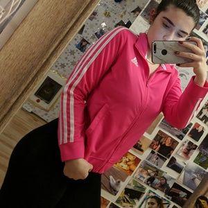 🌸 Neon Pink ADIDAS Track Jacket 🌸